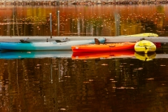 Kayaks in Fall